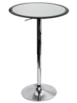 black ribbon bar table