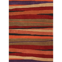 Bright Stripes Contemporary Rug