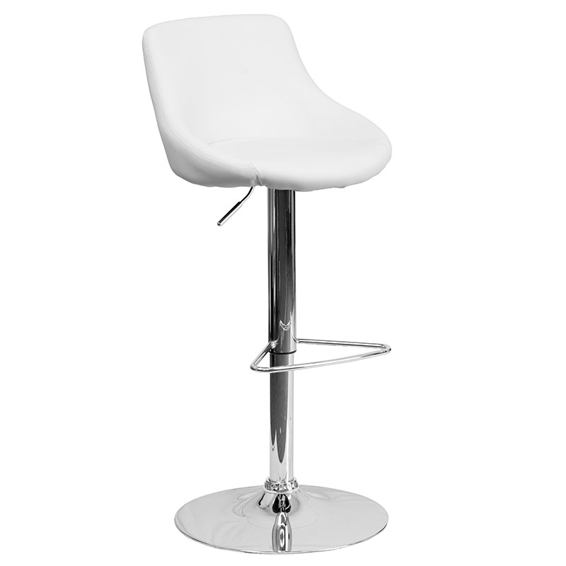 Brighton Barstool in White