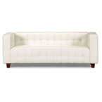 Button Sofa in White