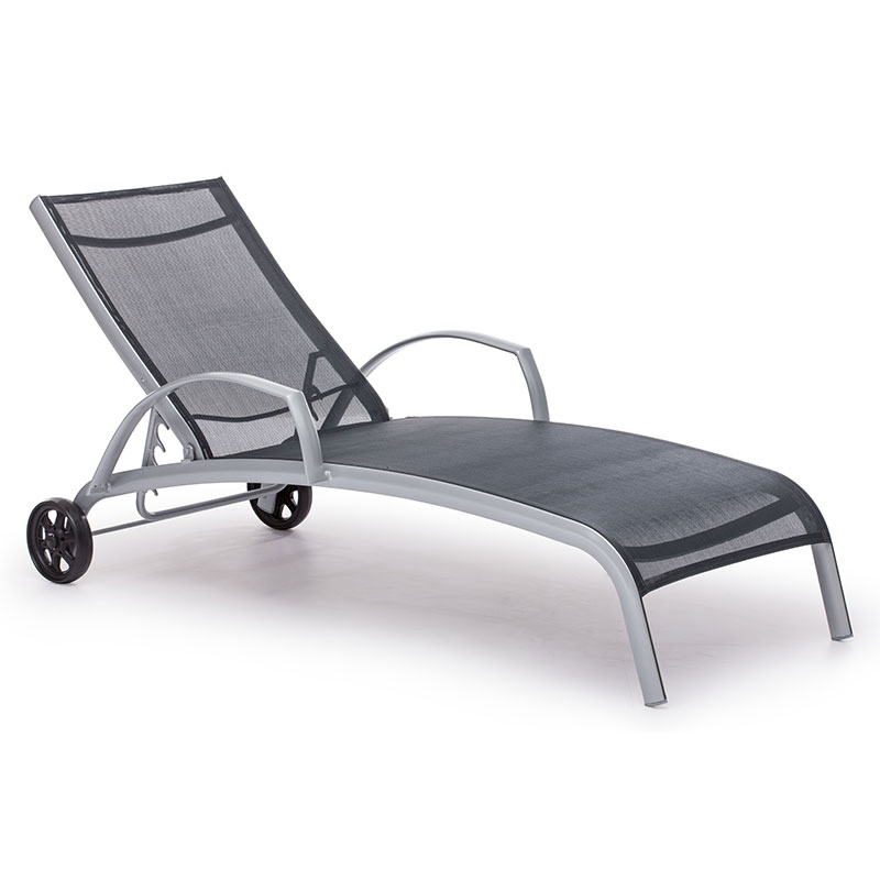 Canyon modern outdoor chaise lounge eurway furniture for Black outdoor chaise lounge