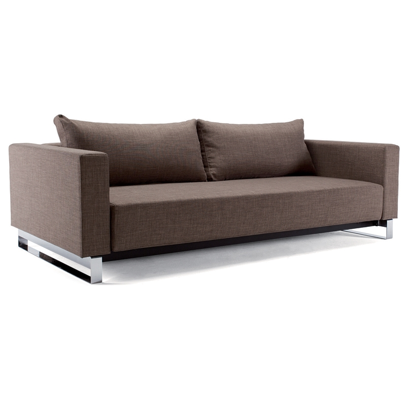 cassius sleek excess sleeper sofa in olive