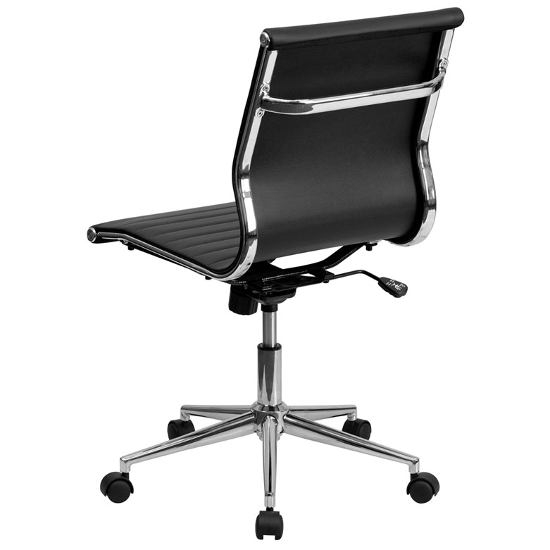 Channel Conference Chair in Black - Back View