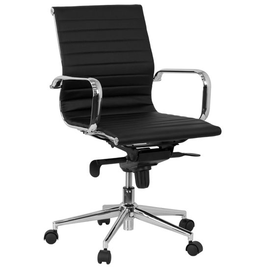 Channel Low Back Office Chair in Black