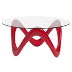 Charles Cocktail Table in Red