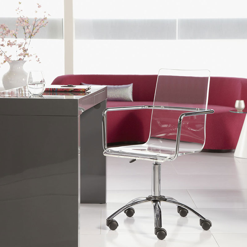 chandler modern office chair acrylic office chairs