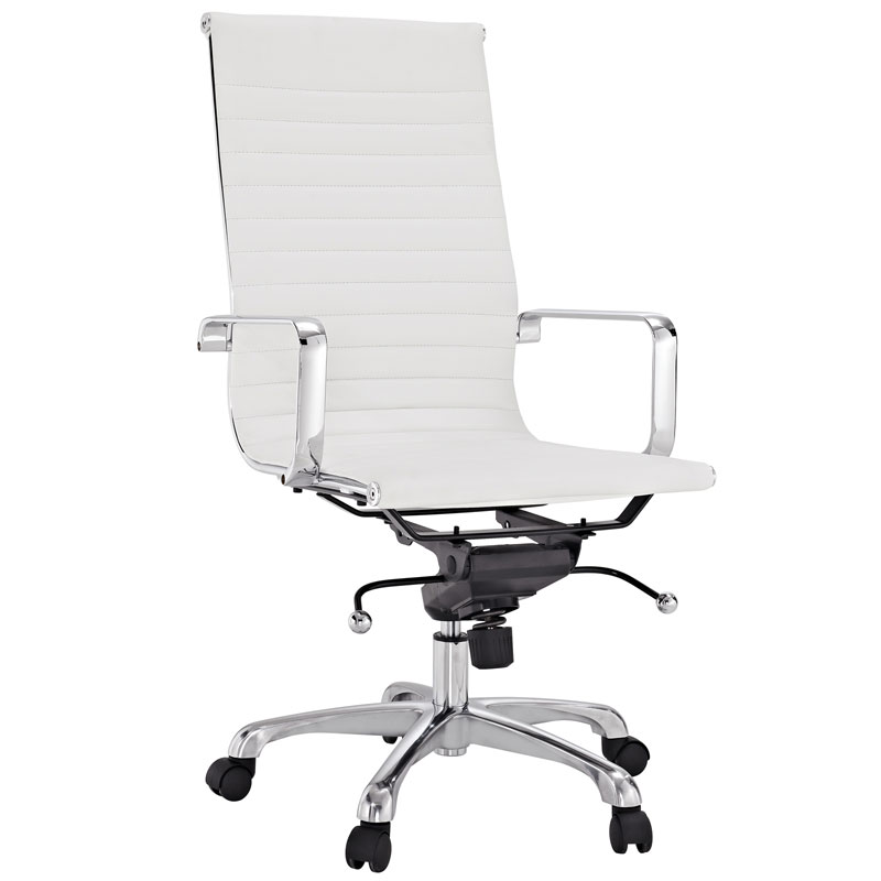 Classic High Back Office Chair in White