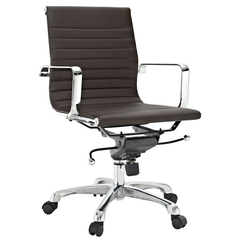 Classic Low Back Office Chair in Brown