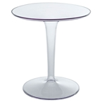 clear contemporary side table