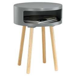 Collie Modern Grey Side Table