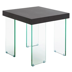 Connor Modern Glass End Table