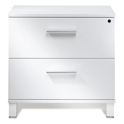 Copenhagen Modern Lateral File Cabinet in White
