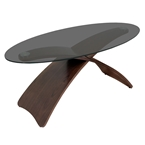 criss cross contemporary cocktail table