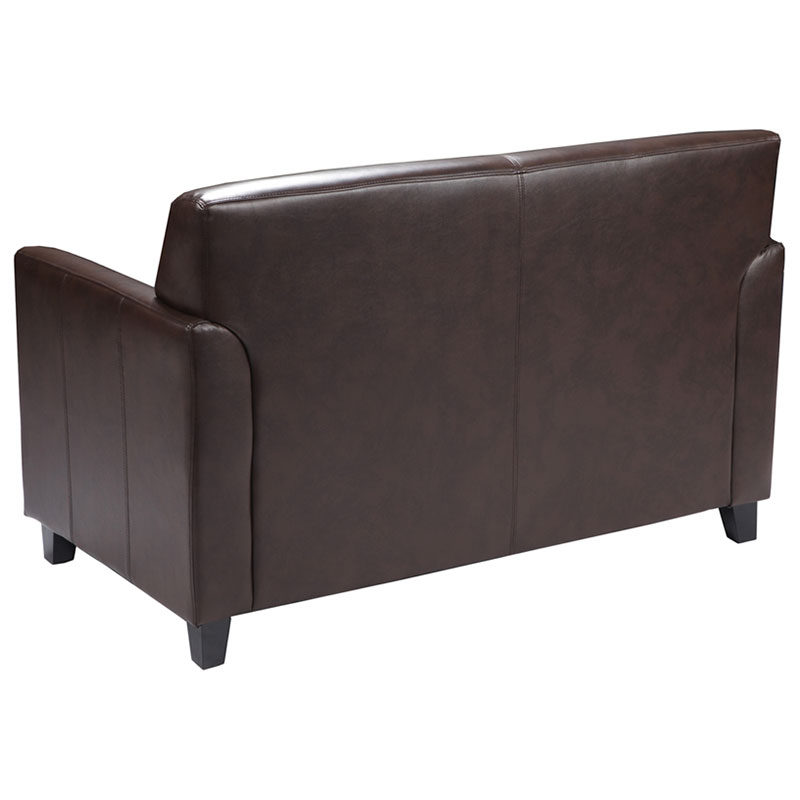 Diana Contemporary Loveseat - Back View