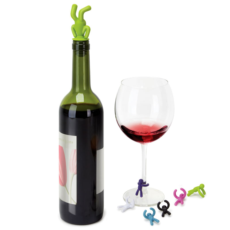 Drinking Buddy Wine Topper and Charms