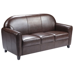 Eric Contemporary Sofa in Brown