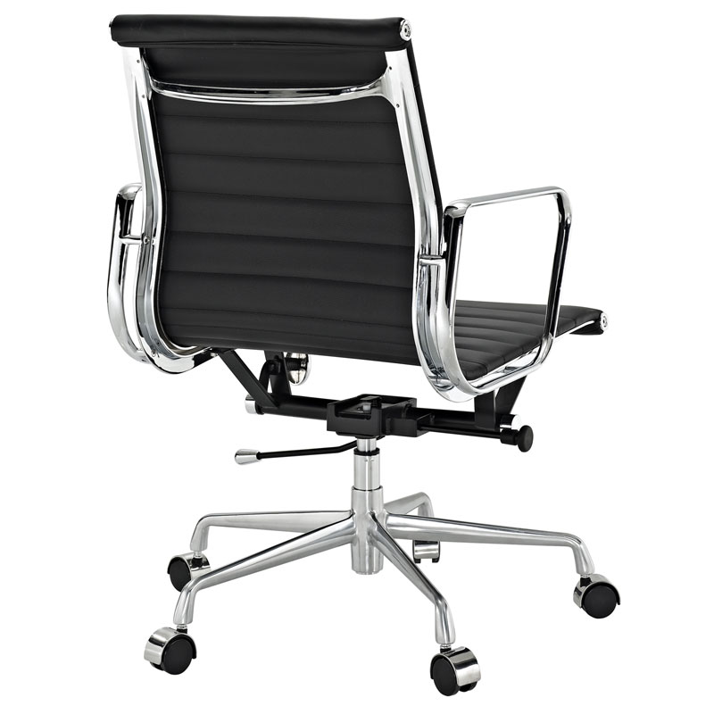 Explorer Low Back Office Chair in Black - Back View