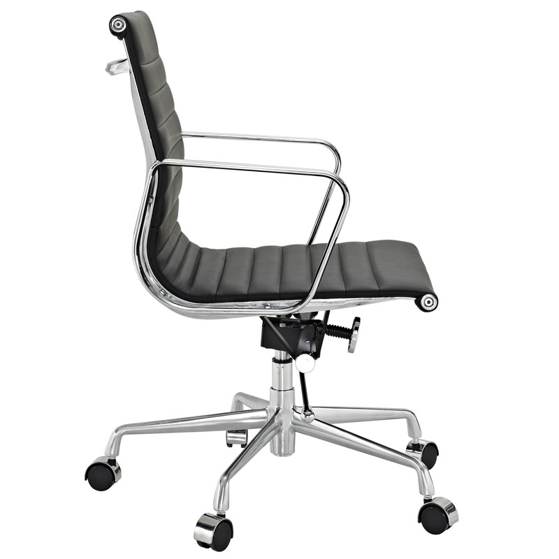 Explorer Low Back Office Chair in Black - Side View