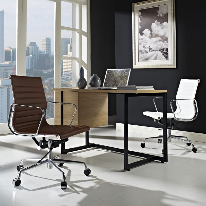 Explorer Low Back Office Chair - White and Terracotta