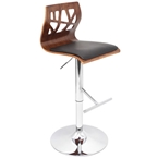 folia adjustable stool in walnut and black