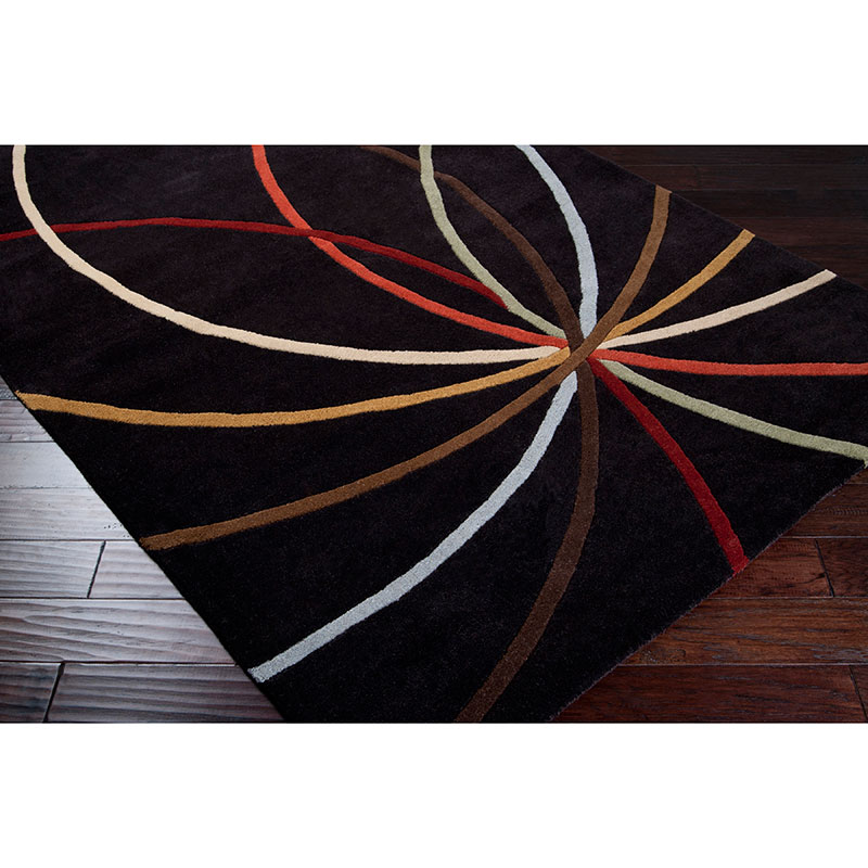 Fowler Chocolate Modern Contemporary Rug