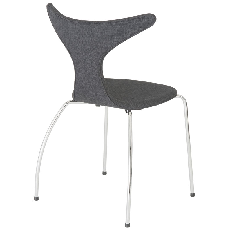 frasier side chair in dark gray - back