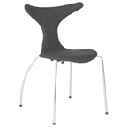 frasier side chair in dark gray