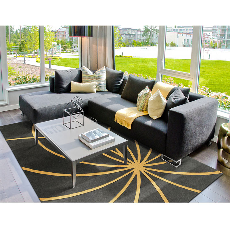 Fulton Rug in Gray and Gold