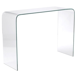abbott solid glass console table