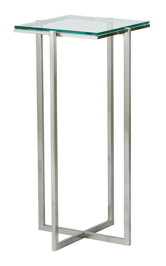 Glacier tall pedestal modern end tables eurway furniture for Tall side table