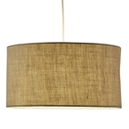 Hamburg Drum Pendant Lamp in Burlap