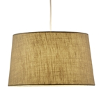 Hamburg Tapered Drum Pendant Lamp in Burlap