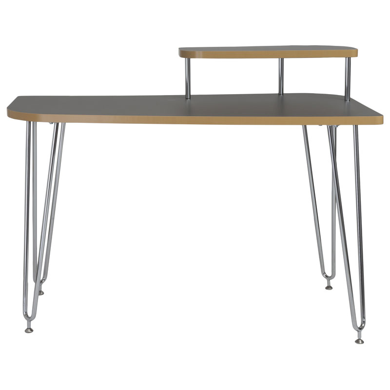hannah desk with right shelf - front