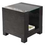 Heathe Modern End Table with Wood Legs