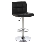 Holt Modern Adjustable Black Bar Stool