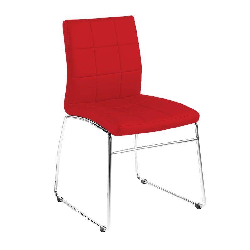 holt dining chair in leatherette and chrome