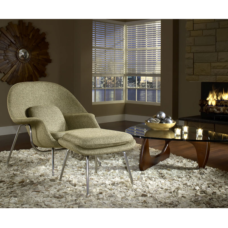 icon chair and ottoman in oatmeal