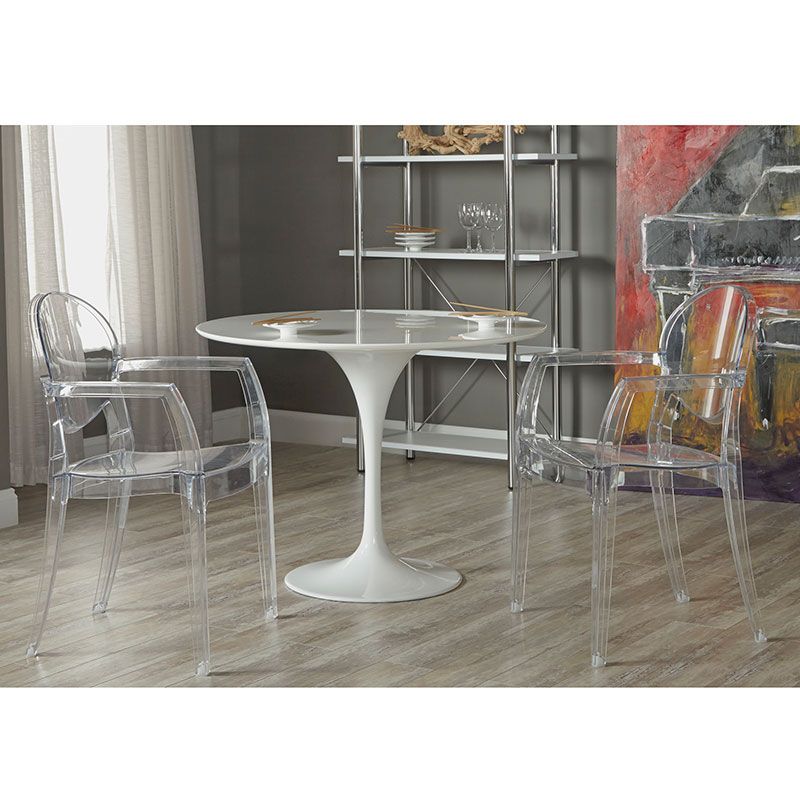 Irwin Polycarbonate Clear Dining Arm Chair