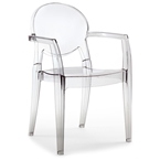 irwin modern transparent arm chair