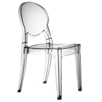 irwin modern transparent side chair
