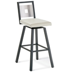 Jasper Swivel Bar Stool - Black Coral and Eggshell