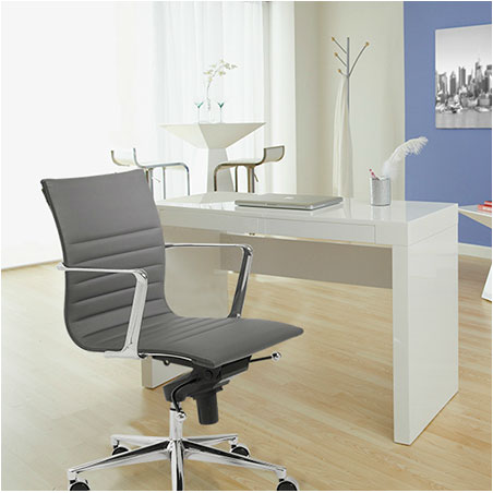 kyell low back office chair - gray