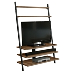 Paige Modern Leaning TV Stand in Walnut