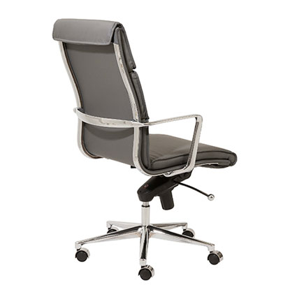 leonard high back office chair in gray - back