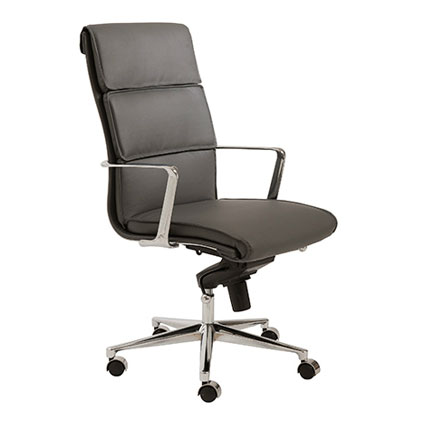 leonard high back office chair in gray