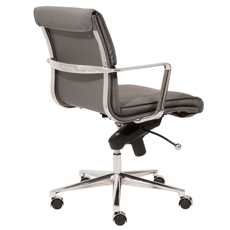 leonard low back office chair in gray - back