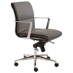leonard low back office chair in gray