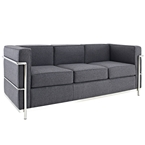 leigh wool modern sofa in dark gray