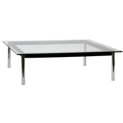 Levin 47 Inch Square Cocktail Table