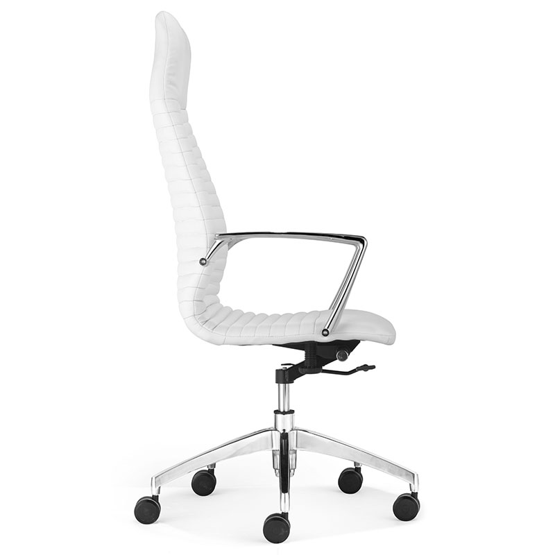 lisse high back modern office chair - side